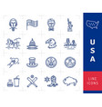 usa icon set american culture icons flag vector image