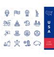Usa icon set american culture icons usa flag