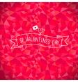 Valentine crystal bird vector image vector image