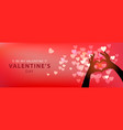 web banner for valentines day male and female vector image