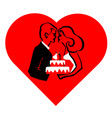 wedding love cake vector image