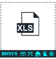 XLS icon flat vector image vector image