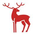 xmas deer icon simple style vector image