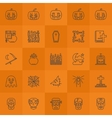 Halloween line icons vector image
