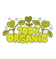 100 Organic natural product vector image