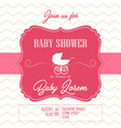 bashower invitation card vector image