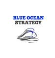 blue ocean strategy concept vector image