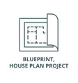 blueprinthouse plan project line icon vector image vector image