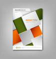 Brochures book or flyer with abstract orange green vector image vector image