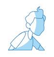 cartoon man medical condition sick image vector image vector image