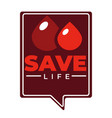charity blood donation isolated icon hourglass and vector image vector image
