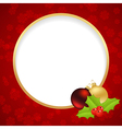christmas label ring vector image vector image