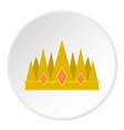 crown icon circle vector image vector image
