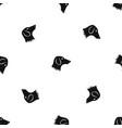 dachshund dog pattern seamless black vector image vector image
