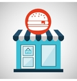ecommerce store fast food burger icon vector image