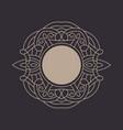 elegant floral monogram design template vector image
