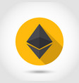 ethereum crypto currency chrystal icon vector image vector image