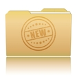 Folder with New damaged stamp vector image vector image