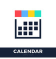 four seasons calendar flat icon calendar line vector image