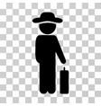 gentleman baggage icon vector image