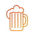 glass of beer foam cold fresh drink beverage vector image vector image