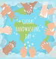 global handwashing day bubble vector image