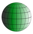 globus 3d earth grid the effect of illumination vector image vector image