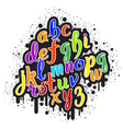 Hand drawn graffiti alphabet 01 vector image vector image
