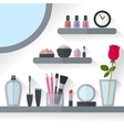 Home dressing table interior vector image vector image