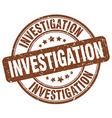 investigation brown grunge round vintage rubber vector image vector image