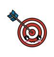 kawaii bow and arrow icon vector image