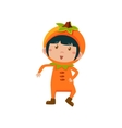 Kid In Orange Costume vector image vector image