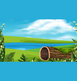 landscape background design river in park vector image vector image