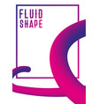 liquid fluid shape cover design modern abstract vector image vector image