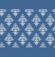 luxury seamless pattern floral wallpaper blue and vector image