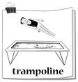 Man jumping on trampoline vector image vector image