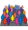 men and women on stairs vector image vector image