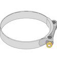 metal clamp with a threaded connection for pipes vector image vector image