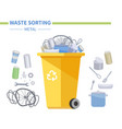 metal waste recycling - modern flat design style vector image