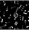 music signs seamless pattern white notes vector image