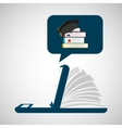 online learning library education vector image