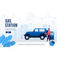 petroleum company offer gas station landing page vector image vector image