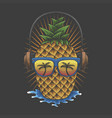pineapple headphone vector image