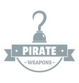 pirate weapon logo simple gray style vector image vector image