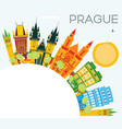 prague skyline with color buildings blue sky and vector image vector image