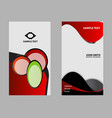 professional and designer business card set or vis vector image vector image