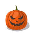 pumpkin head jack lantern cartoon icon vector image