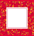 red canna lily banner card vector image vector image