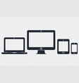 responsive digital device icons set vector image vector image