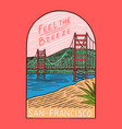 retro summer san francisco surf badge vintage vector image vector image
